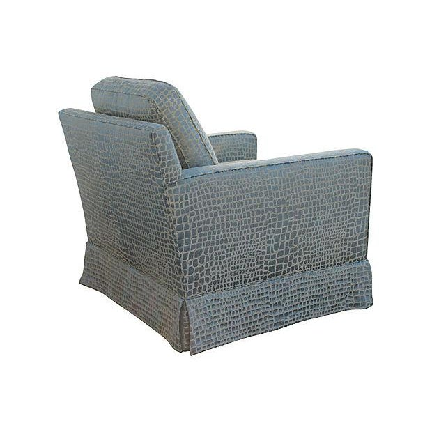Faux Crocodile Sofa & Club Chair - Image 5 of 7
