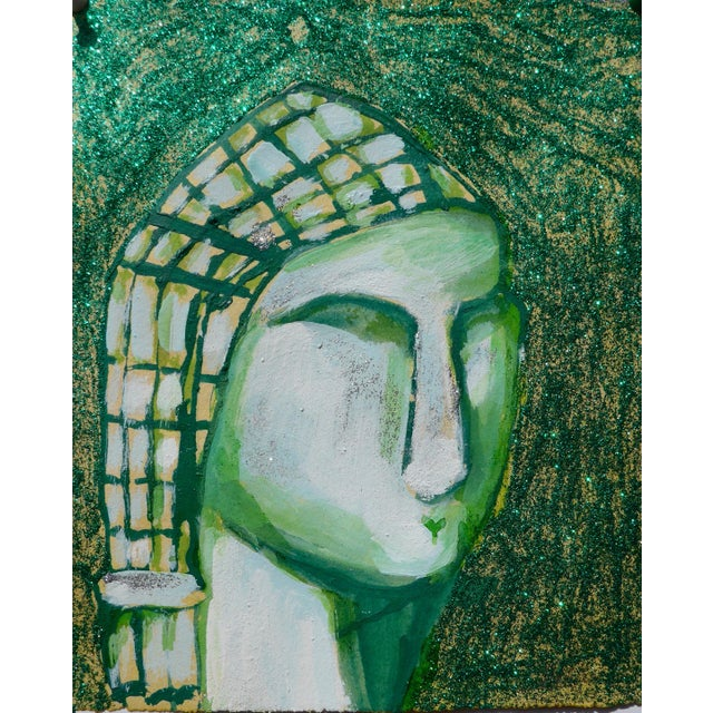 Contemporary Drawing, Venus in Green For Sale - Image 4 of 4