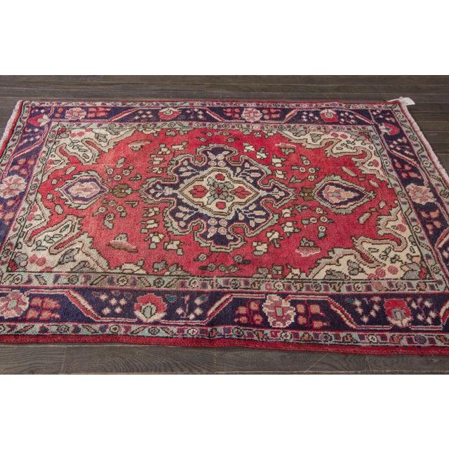 "Apadana - Vintage Persian Hamadan Rug, 4'3"" x 6'3"" - Image 2 of 4"