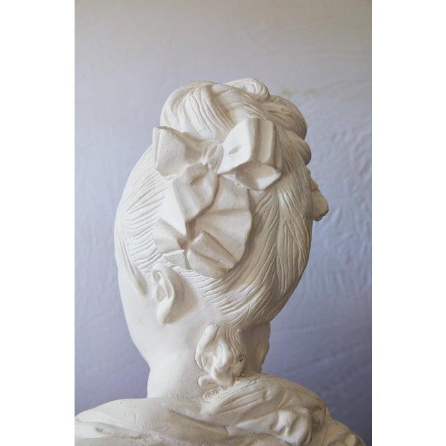 Elegant Hollywood Regency Large Plaster Bust For Sale - Image 9 of 13