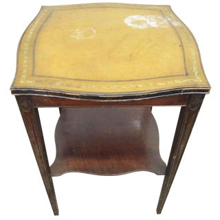 Yellow Leather Top Table