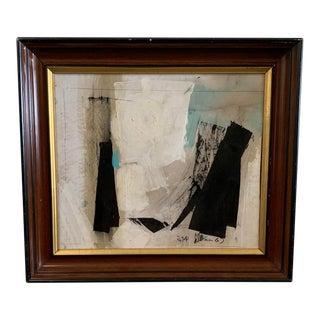 """1960s Framed Graham Harmon Oil Painting Entitled """"Stop"""" For Sale"""