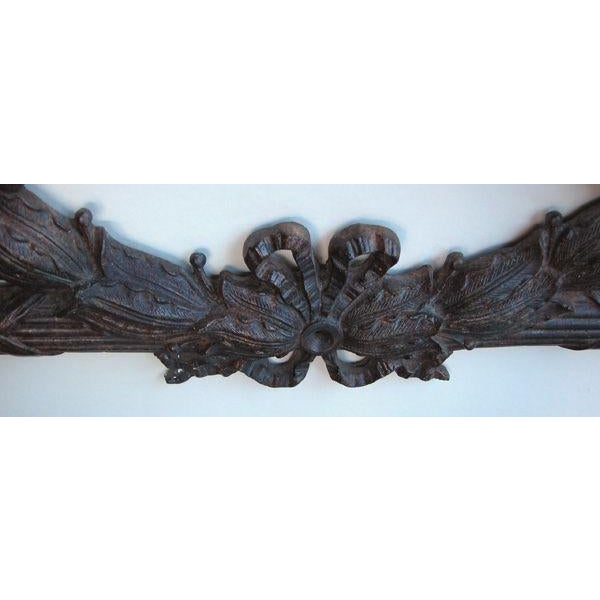 Mid 19th Century A Heraldic Pair of French Louis XVI Style Bronze Laurel Wreaths For Sale - Image 5 of 6