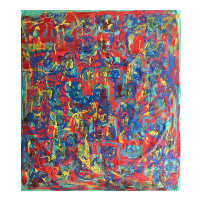 """Abstract """"What Should I Do?"""" Acrylic Painting by Alaina Suga Lane For Sale"""