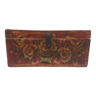 1950s Hand Painted Chinese Box For Sale