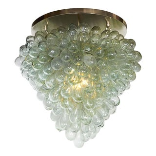 Grape Cluster' Blown Glass Light Fixture Flush Mount For Sale