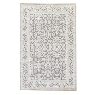 Jaipur Living Regal Damask Gray/ White Area Rug -7′6″ × 9′6″ For Sale