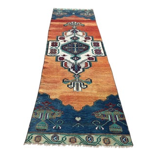 1960s Vintage Turkish Hallway Runner - 3′1″ × 11′5″ For Sale