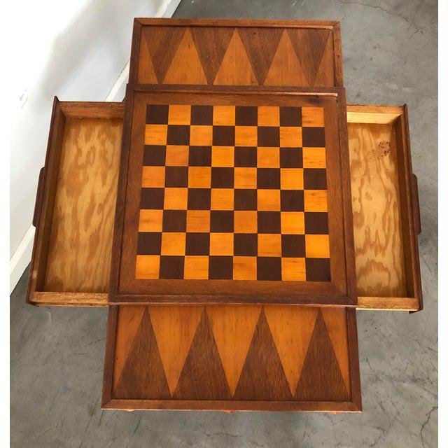 Danish Modern Mid Century Danish Modern Teak Game Table For Sale - Image 3 of 9