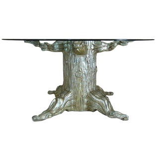 20th Century Art Nouveau David Barrett Tree Trunk Dining Table