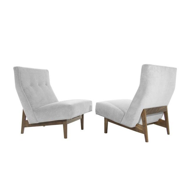 Classic Slipper Chairs by Jens Risom, Circa 1950s - a Pair For Sale - Image 13 of 13