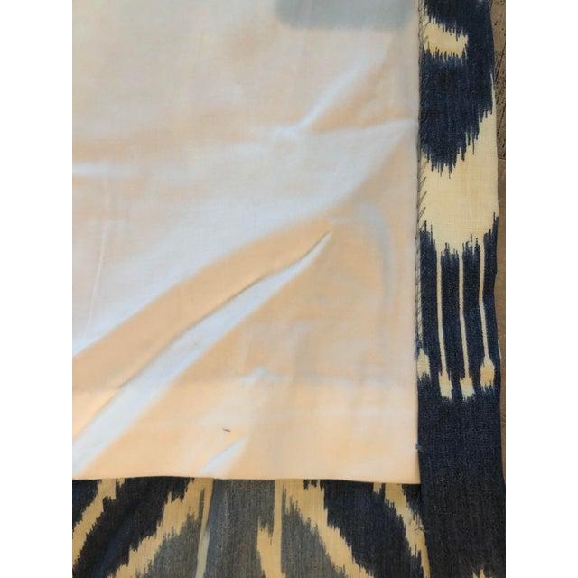 Kravet Blue Ikat Curtain Panels - A Pair For Sale - Image 4 of 5