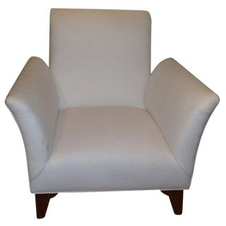 French Art Deco Dominique Style Upholstered Club Chair