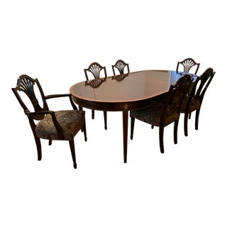 Stickley Classic Monroe Place Dining Table & 6 Chairs For Sale