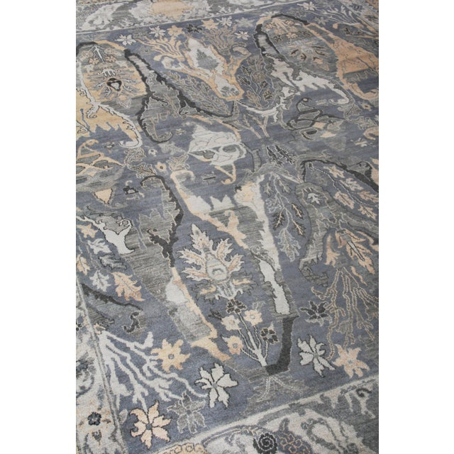 Not Yet Made - Made To Order Loch Hand knotted Wool Emerald Rug-12'x15' For Sale - Image 5 of 8