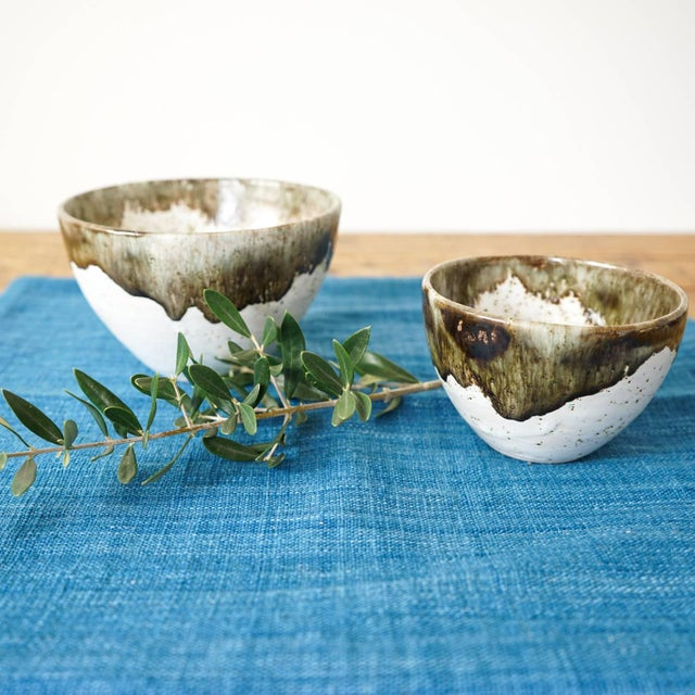 Gray Speckled Bowls - Pair - Image 3 of 4