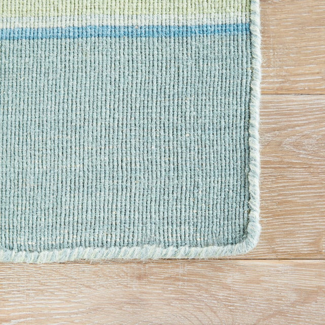 Contemporary Jaipur Living Kiawah Handmade Striped Blue/ Turquoise Area Rug - 8′ × 10′ For Sale - Image 3 of 6