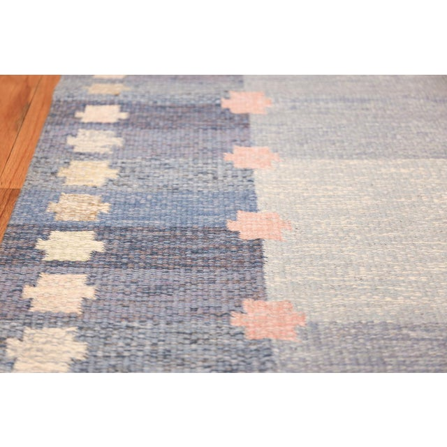 Vintage Swedish Kilim Rug by Anna-Joanna Angstrom - 5′6″ × 7′9″ For Sale In New York - Image 6 of 9
