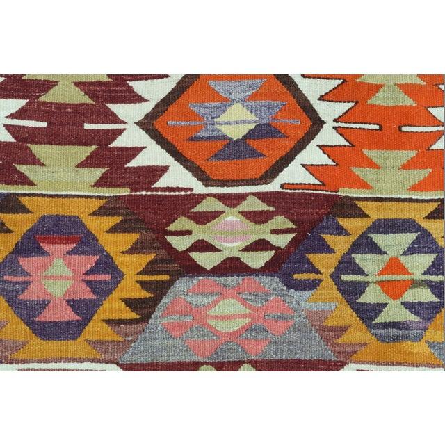 1960s Vintage Tavas Nomad's Flat Weave Rug For Sale - Image 9 of 12