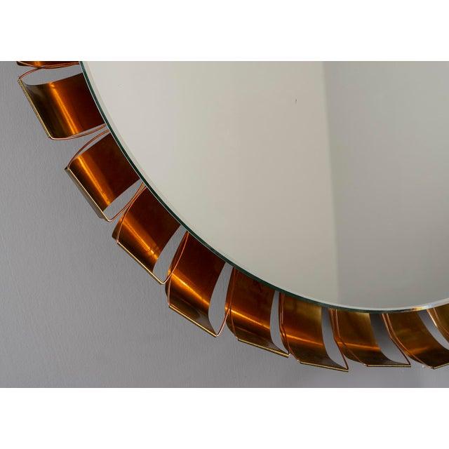 Large Mid Century Bronze Frame Back Lit Mirror For Sale In Detroit - Image 6 of 11