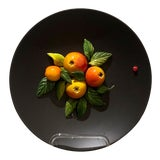 Image of 20th Century Country Trompe l'Oeil Plate With Apples For Sale
