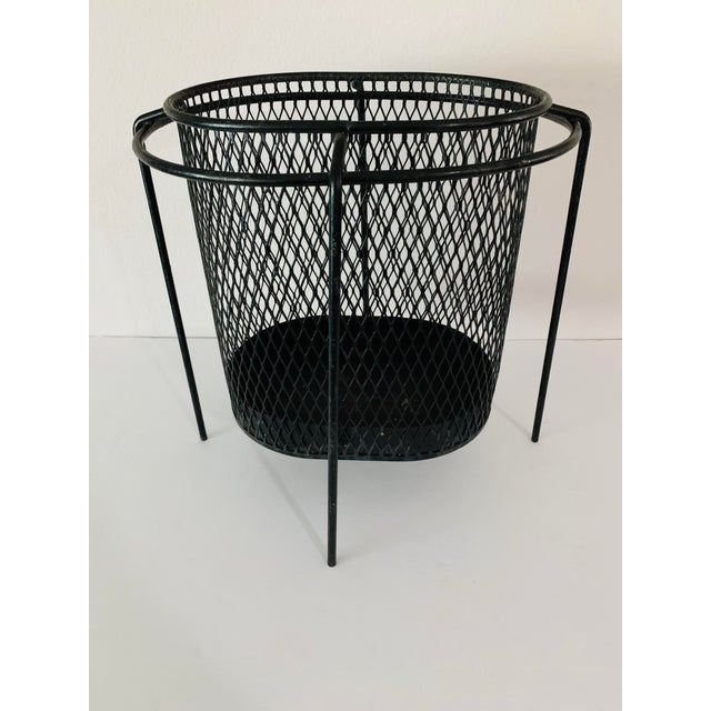 Maurice Duchin Floating Iron Mesh Wastebasket Trash Can For Sale - Image 10 of 12