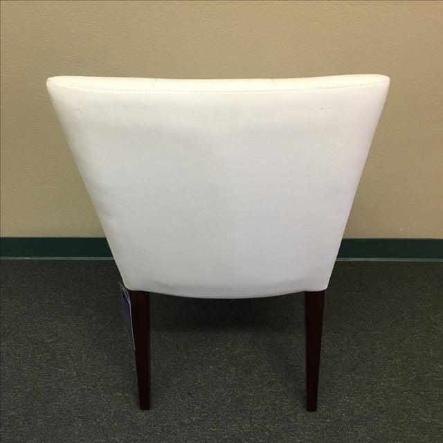Dakota Jackson White Leather Marina Odile Chair - Image 6 of 10