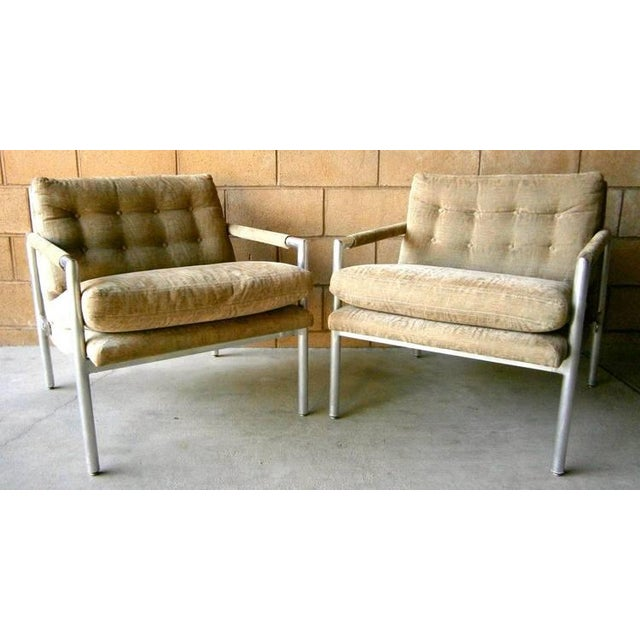 1960s Aluminum Club Chairs - A Pair - Image 2 of 7