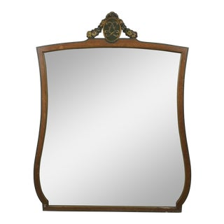 20th Century Art Deco Wooden Manor Mirror For Sale