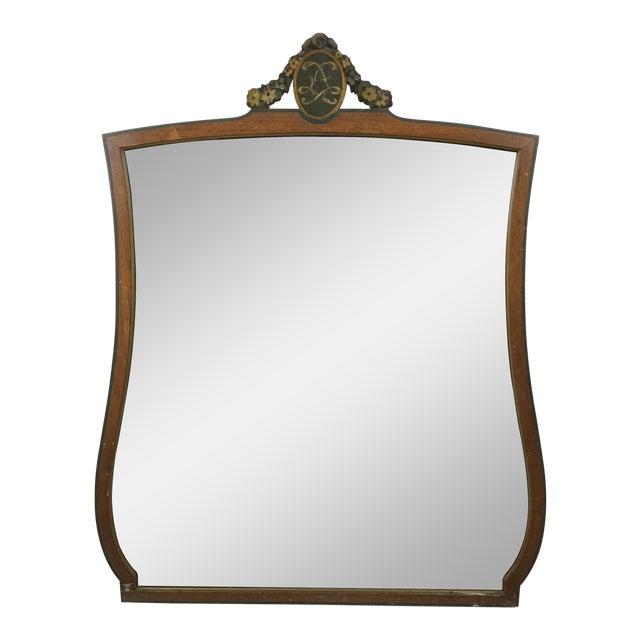 20th Century Art Deco Wooden Manor Mirror For Sale