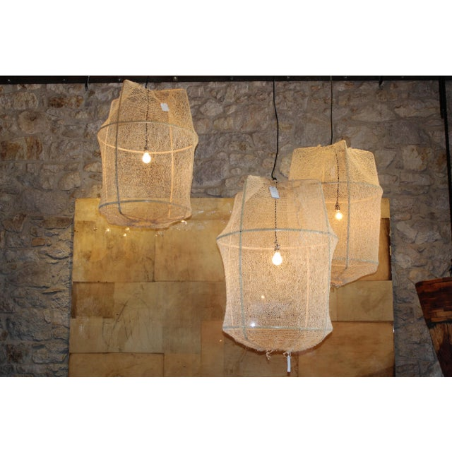 Excellent Sisal Net Tea Dyed Pendant Light Decaso