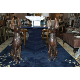 Bronze Egyptian Dog Statues - A Pair Preview