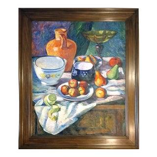 Myxamem Amahob - Morning Breakfast Fruits Oil on Canvas For Sale