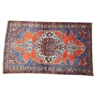 "C. 1920 Persian Hamadan Rug - 7' X 4'2"" For Sale"