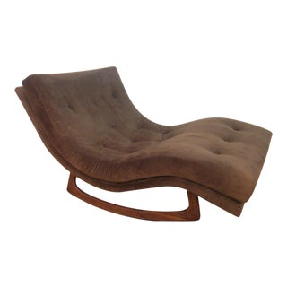 Adrian Pearsall Sculptural Double Wide Rocking Chaise For Sale