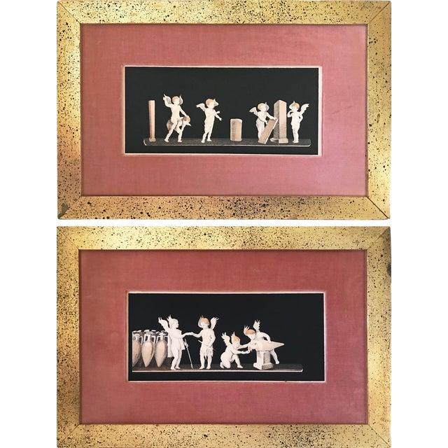 Antique Neoclassical Cherub Lithographs/ Pair For Sale