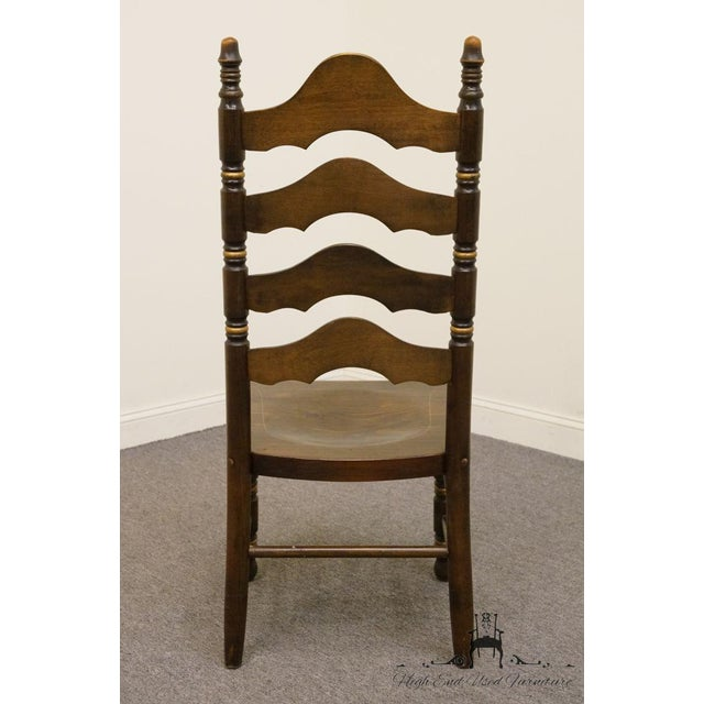 20th Century Traditional Ethan Allen Old Tavern Pine Ladder Back Dining Chair For Sale In Kansas City - Image 6 of 9
