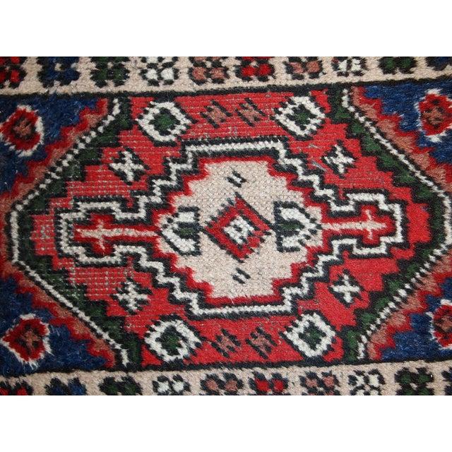 Traditional 1970s, Handmade Vintage Persian Hamadan Rug 1.3' X 1.9' For Sale - Image 3 of 10