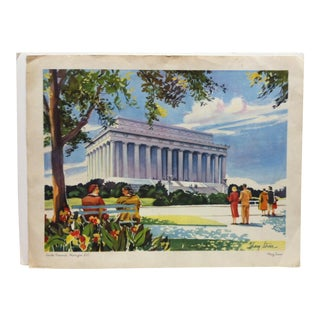 """Lincoln Memorial"" Print by Mary Stover For Sale"
