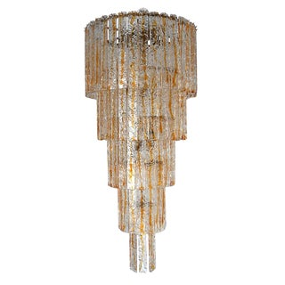 Planks Chandelier by Mazzega For Sale
