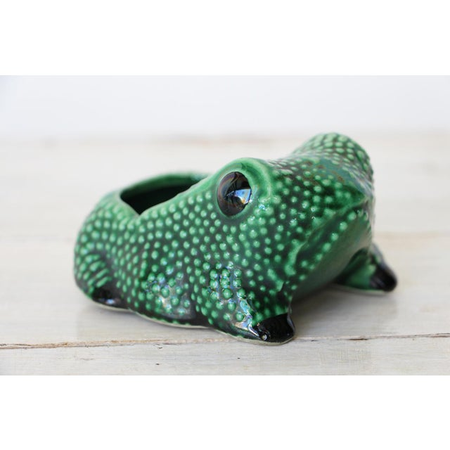Chinese Vintage Hobnail Frog Planter in the Style of Jean Roger For Sale - Image 13 of 13