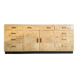 Henredon Scene Two Olive Burl Wood & Macassar Ebony Credenza For Sale