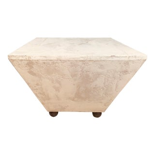 White Faux Plaster Table For Sale