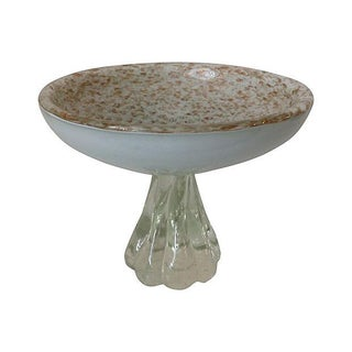 Alfredo Barbini Murano Large Pedestal Tazza Bowl