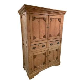 19th Century Rustic Irish Pine Cabinet For Sale