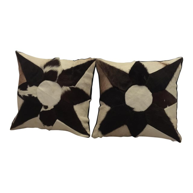 Mid-Century Cowhide Pillows - Image 1 of 5