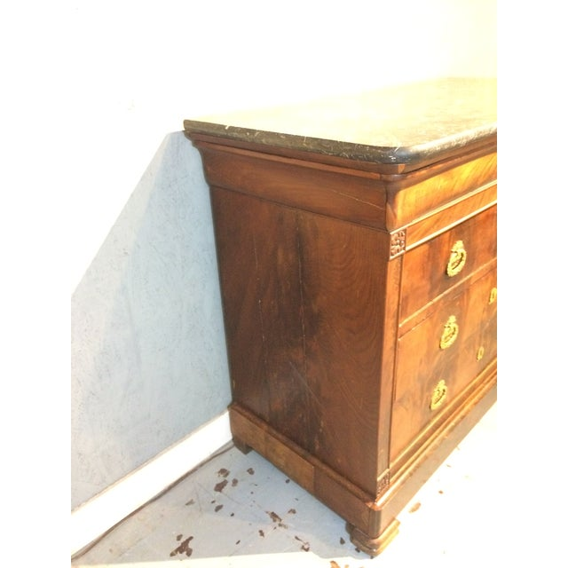 Louis Philippe Four Drawer Chest with Flame Mahogany For Sale - Image 11 of 13