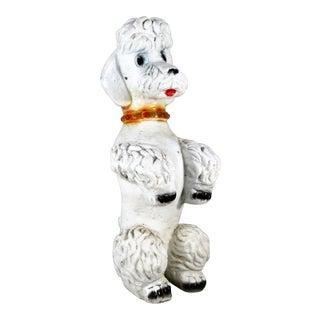 Vintage Concrete Poodle Figure For Sale