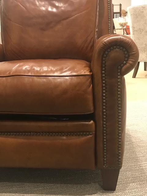 Henredon Leather Company Lugano Power Recliner   Image 4 Of 6