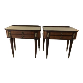 1950s Art Deco Night Stand End Tables - a Pair For Sale